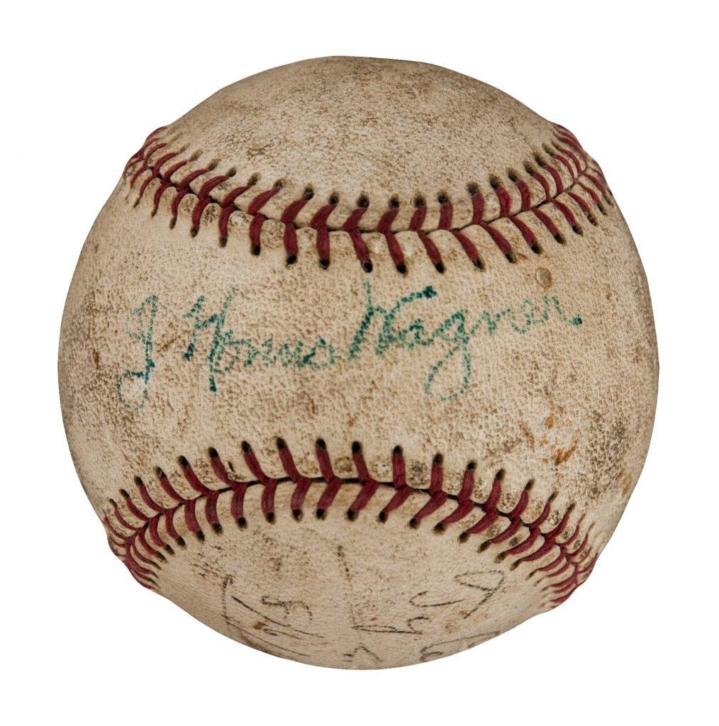 Honus Wagner-Ty Cobb signed ball