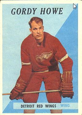 Gordie Howe 1958-59 Topps card
