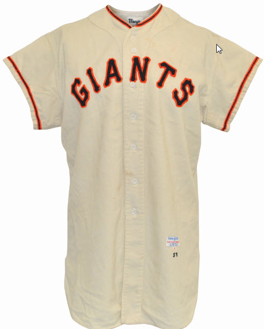 New York Giants game jersey Willie Mays 1957