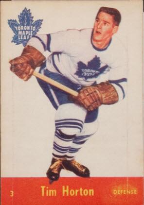 Tim Horton 1955-56 Parkhurst hockey card