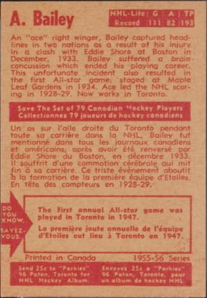 1955-56 Parkhurst hockey back