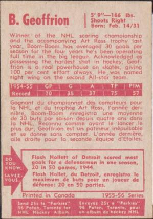 Geoffrion back 1955-6 Parkhurst