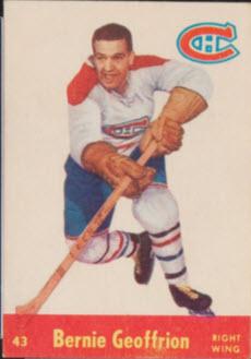 Bernie Geoffrion 1955 Parkhurst hockey card