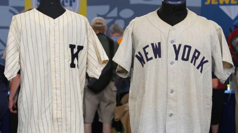 old Yankees game worn jerseys