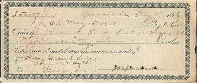 Joe Jackson signed mortgage voucher