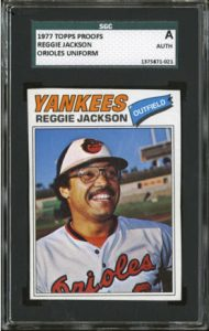 Reggie Jackson 1977 Topps Orioles proof