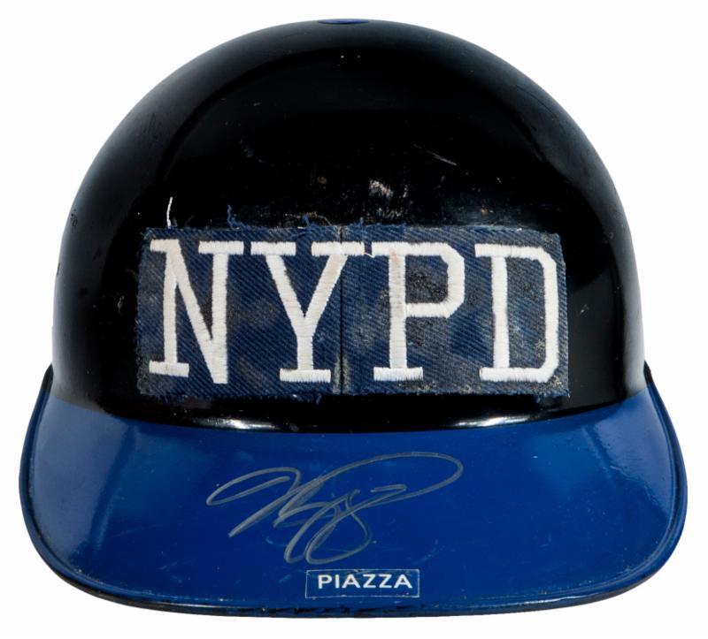 Piazza 9-11 Mets catchers helmet
