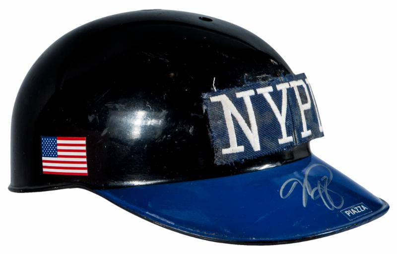 NYPD Mike Piazza 9-11 catchers helmet