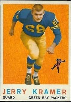 1959 Topps Jerry Kramer rookie