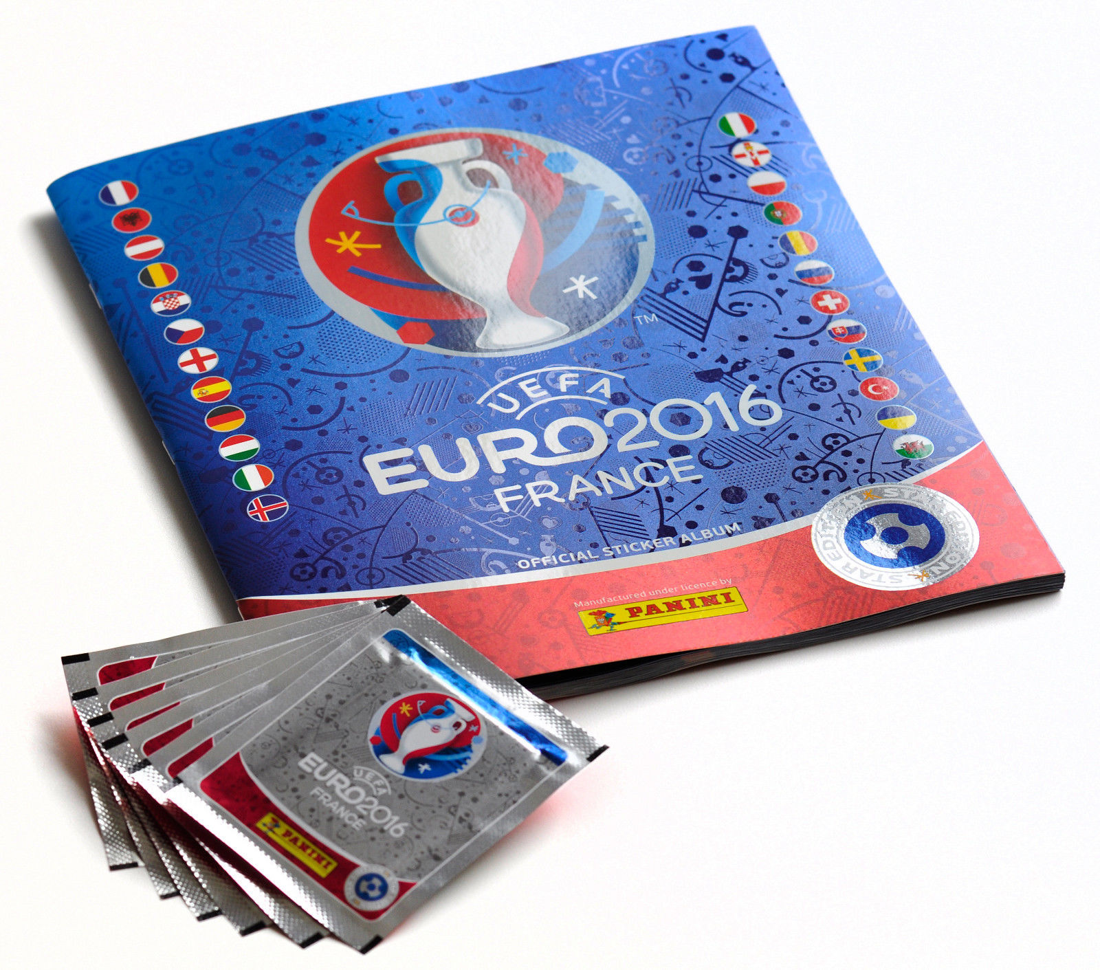 Euro 2016 Panini soccer sticker album packs