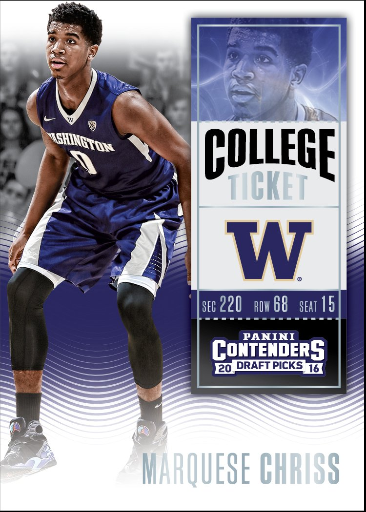Marquese Chriss College Contenders Panini basketball card
