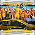 Joey Logano Winner's Circle 2016 Panini Prizm racing
