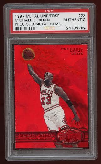 1997-98 Precious Metal Gems Michael Jordan red 23