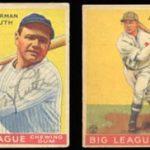 1933 signed Goudey baseball cards