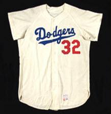 Sandy Koufax 1966 game worn jersey