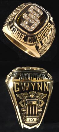 Padres 1984 National League Championship ring Tony Gwynn