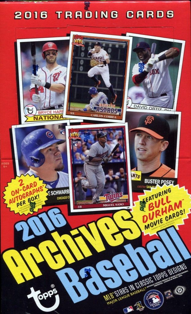 Topps Archives Baseball 2016