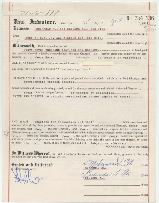 Ali-Bryant home sale document
