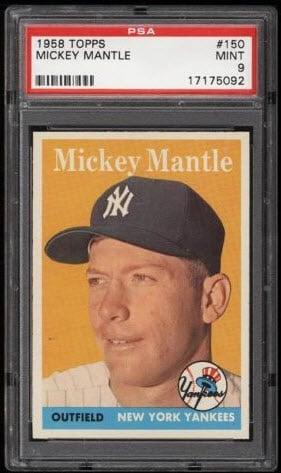 Mickey Mantle 1958 Topps PSA 9