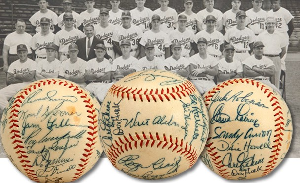 Dodgers autographed baseballs