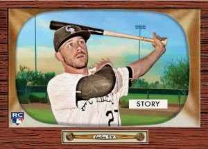 Trevor Story 2016 Topps 1955 Bowman design throwback
