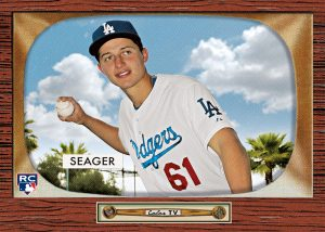 Corey Seager Topps Throwback 1955 Bowman design
