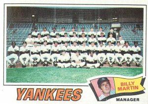 1977 topps yankees