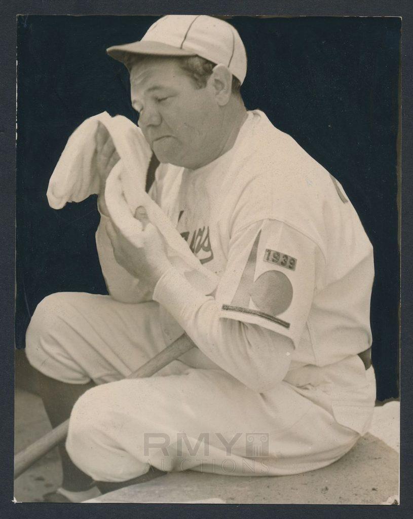 1938 Babe Ruth photo Brooklyn Dodgers