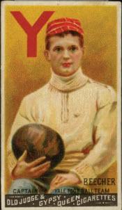 Harry Beecher football card
