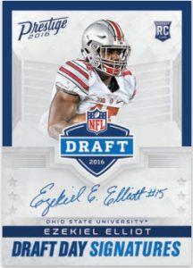 Ezekiel Elliott 2016 Panini Prestige Draft Day Signatures