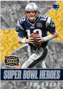 Tom Brady 2016 Panini Prestige Super Bowl Heroes
