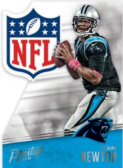 Cam Newton 2016 NFL Shield Die Cut Panini Prestige football card