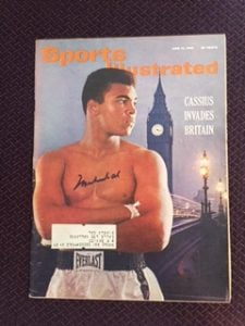 Signed Ali Sports Illsutrated