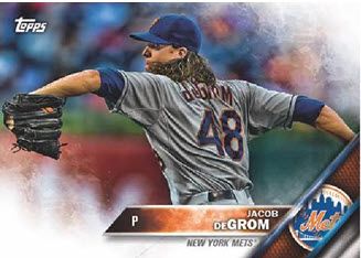 Jacob deGrom New Era baseball card