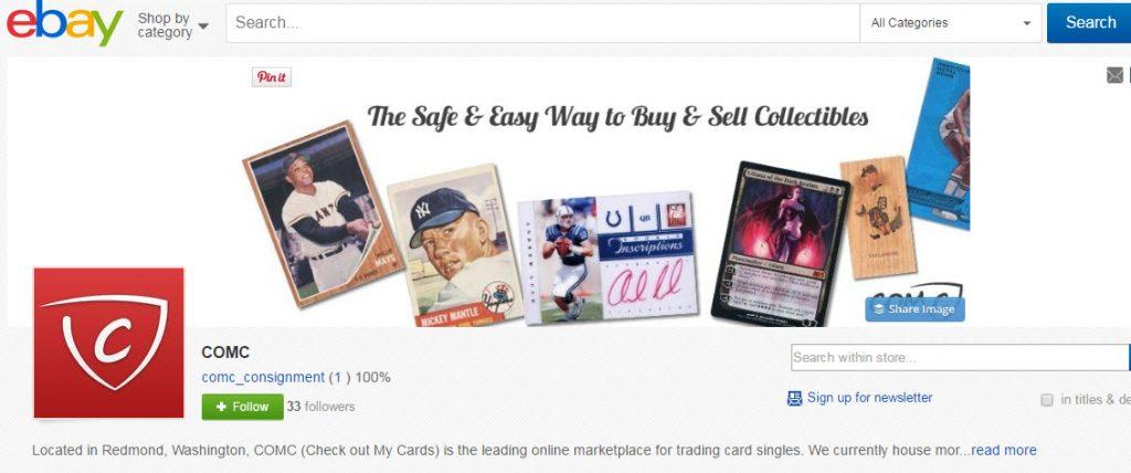 COMC eBay store