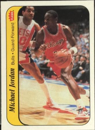 Michael Jordan rookie Fleer basketball stickers