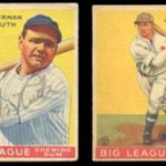 Autographed 1933 Goudey baseball cards