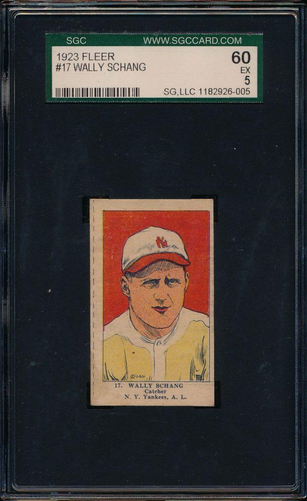 Wally Schang 1923 Fleer