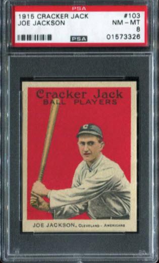 Joe Jackson 1915 Cracker Jack PSA 8