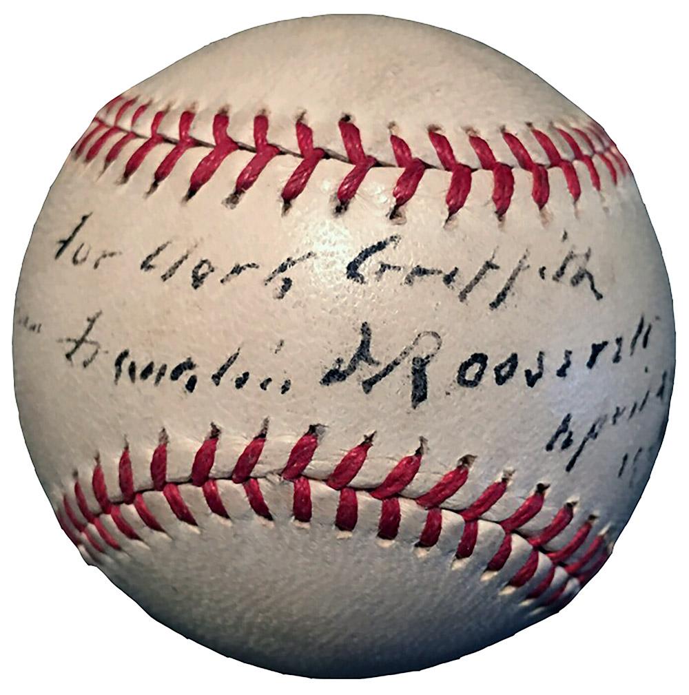 Autographed FDR baseball