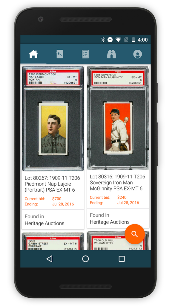 Collectable App Sports Auctions