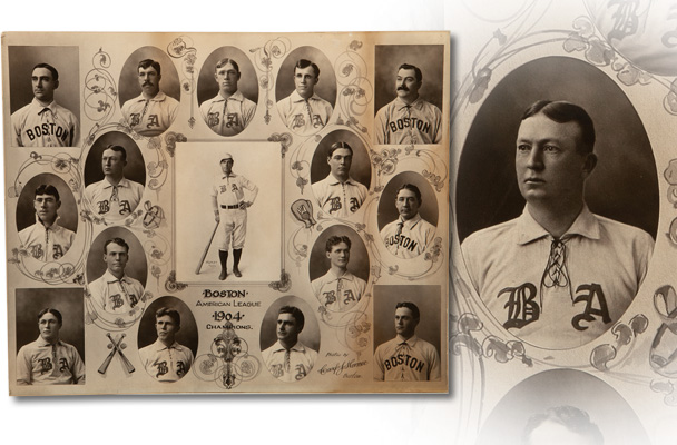 Carl Horner 1903 Boston Americans composite