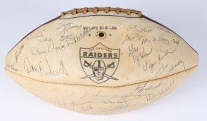 1968 Raiders team signed football
