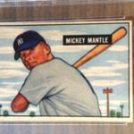 Mickey Mantle Bowman rookie card