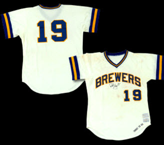 1976 Robin Yount game jersey