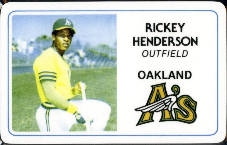 Rickey Henderson 1981 Perma-Graphics