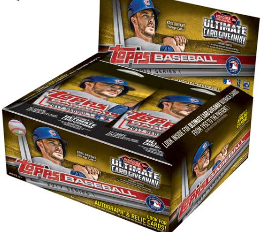 Topps 2017 baseball cards retail box
