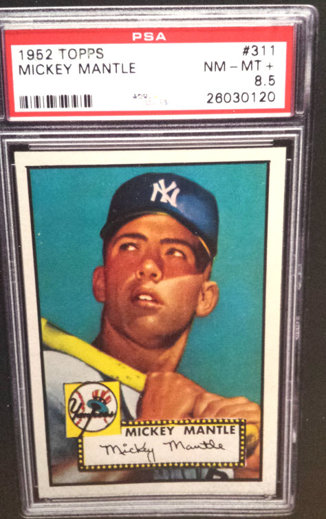 Mickey Mantle 1952 Topps PSA 8.5