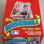 Topps 1985 wax box