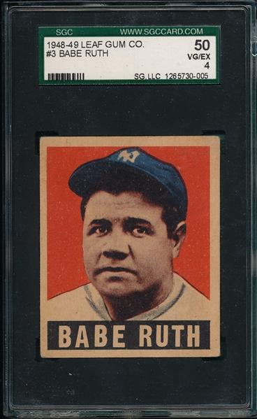 Babe Ruth 1949 Leaf